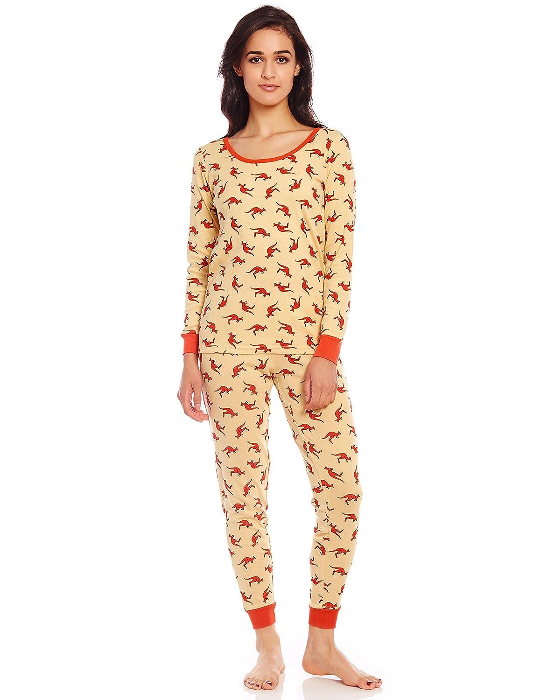 1b4e0c120cf Leveret Women s Pajamas Fitted Printed Owl 2 Piece Pjs Set 100% Cotton  Sleep Pants Sleepwear (XSmall-XLarge) at Amazon Women s Clothing store