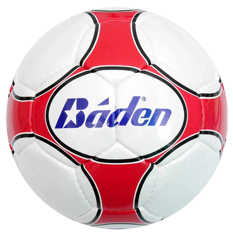Baden Balón de fútbol Sala Blanco/Rojo: Amazon.es: Deportes y aire ...