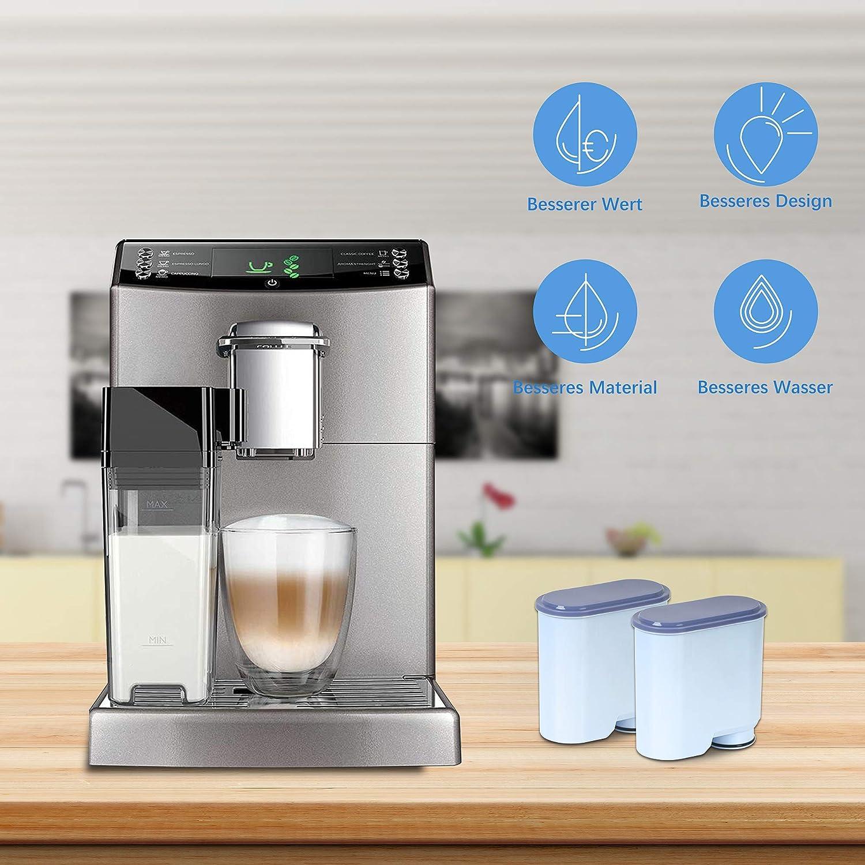 Filtro de agua XtraCare para cafeteras automáticas Saeco y Philips/Saeco AquaClean 4 unidades: Amazon.es: Hogar