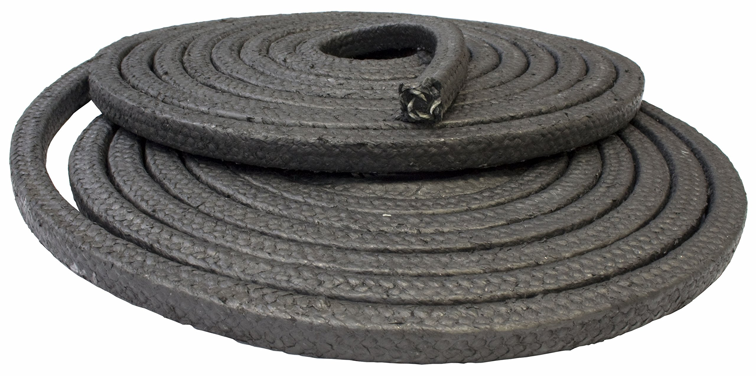 "Gland packing rope 3mm (1/8"") square - glass fibre & graphite braided - sold per metre"