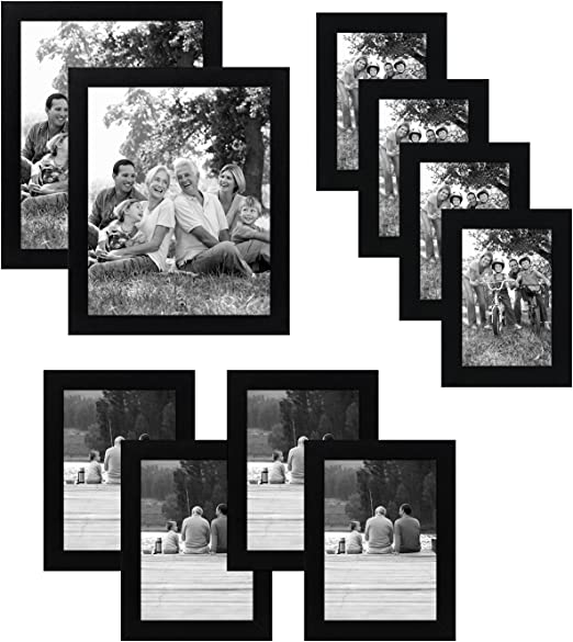 Multi Picture Photo Frame 11 PCS Set Wall Mounted Frames Set Collage Family US
