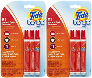 Tide To Go To Go Mini Instant Liquid Stain Remover, 3 ct-2 pack