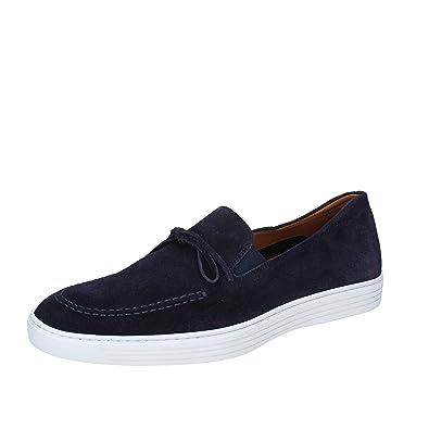 TRIVER Flight - Mocasines de Ante para Hombre BLU/Beige Azul Size: 44: Amazon.es: Zapatos y complementos