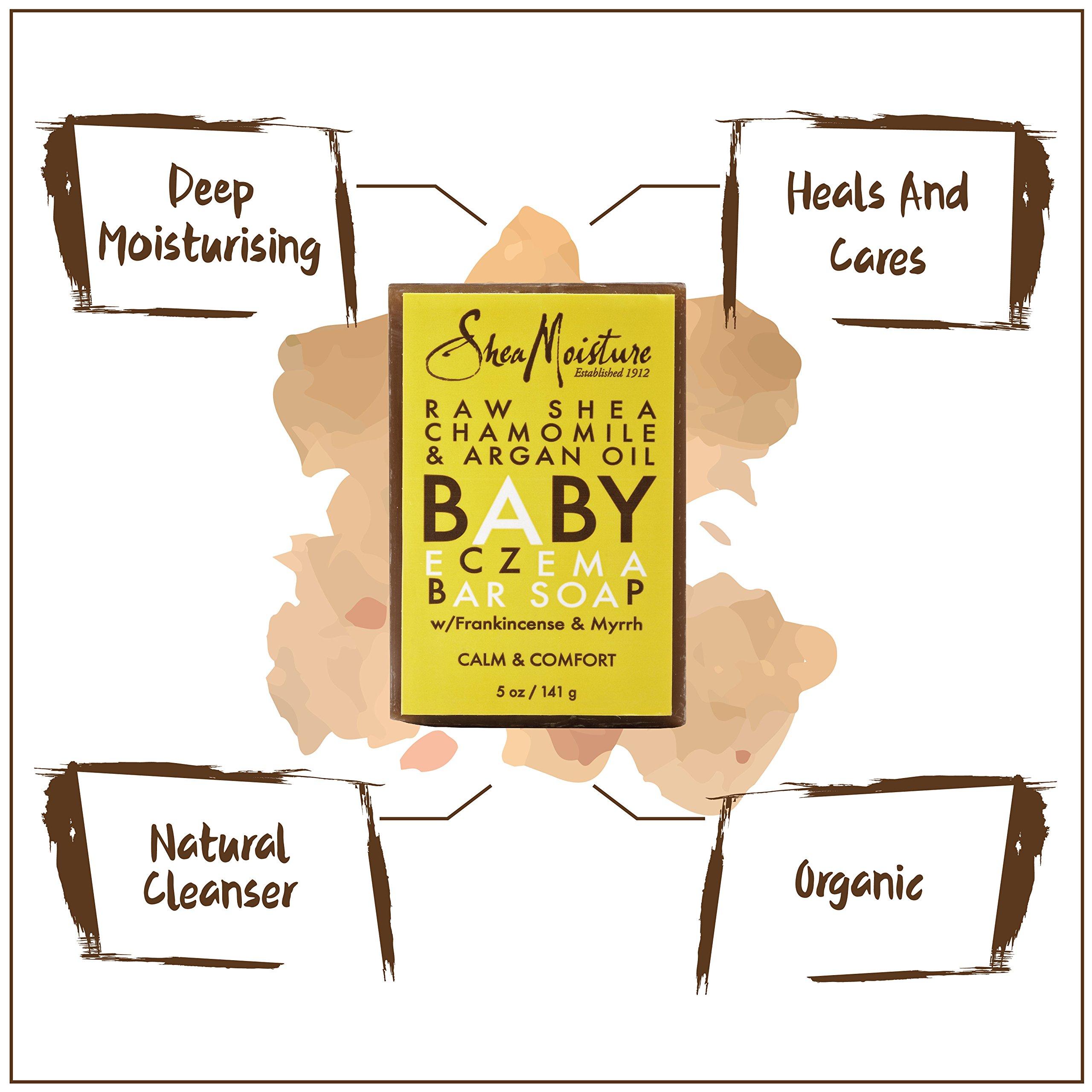 SheaMoisture Raw Shea Chamomile & Argan Oil Baby Eczema Bar Soap   5 oz.