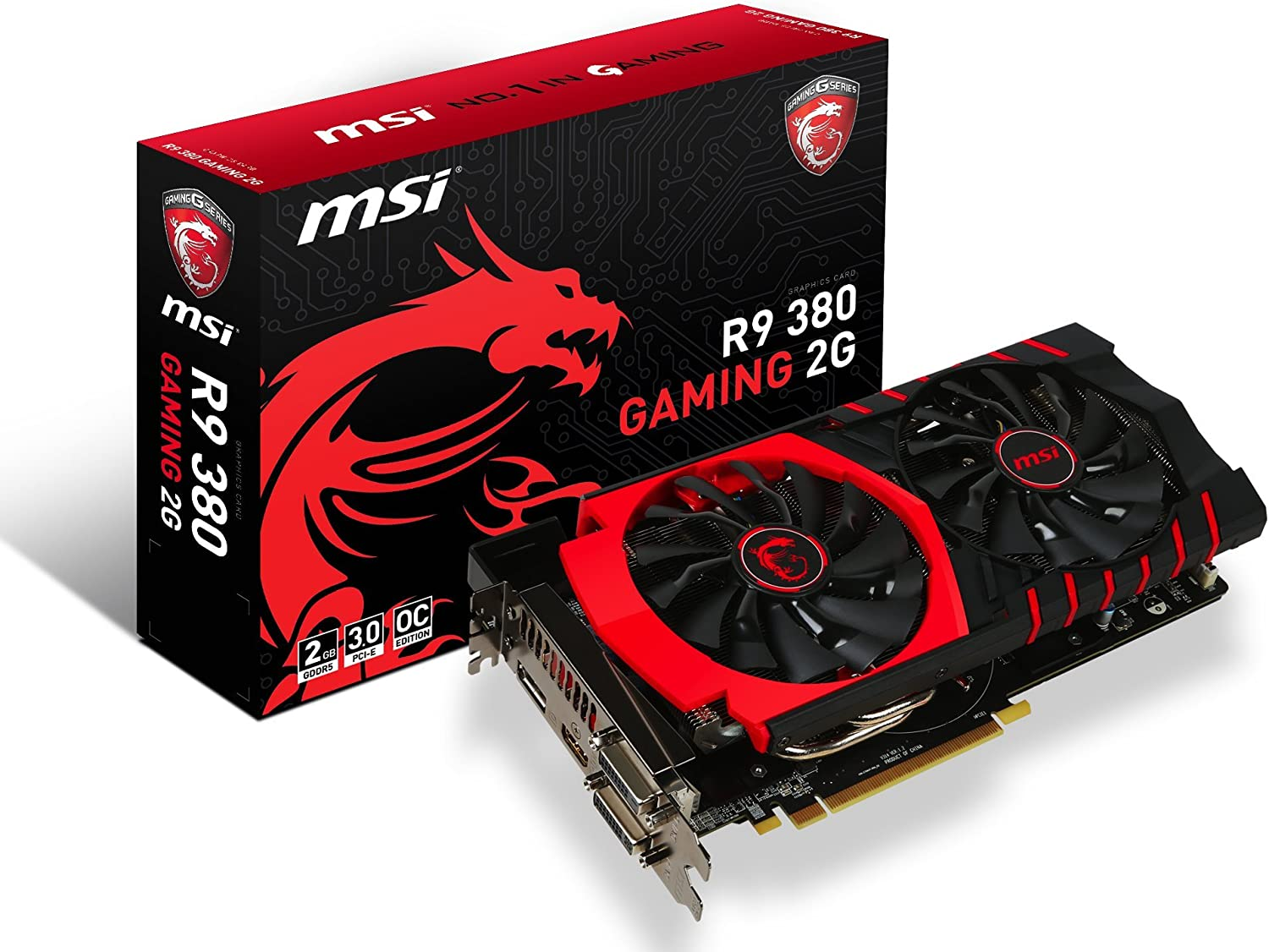 MSI R9 380 GAMING 2G Graphics Card