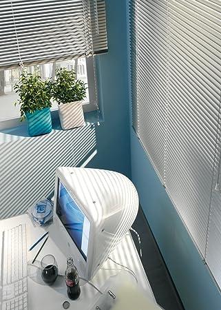 Gardinia 7731 - Persiana enrollable y estor, metálico y aluminio de 80 x 130 cm, color plateado: Amazon.es: Hogar