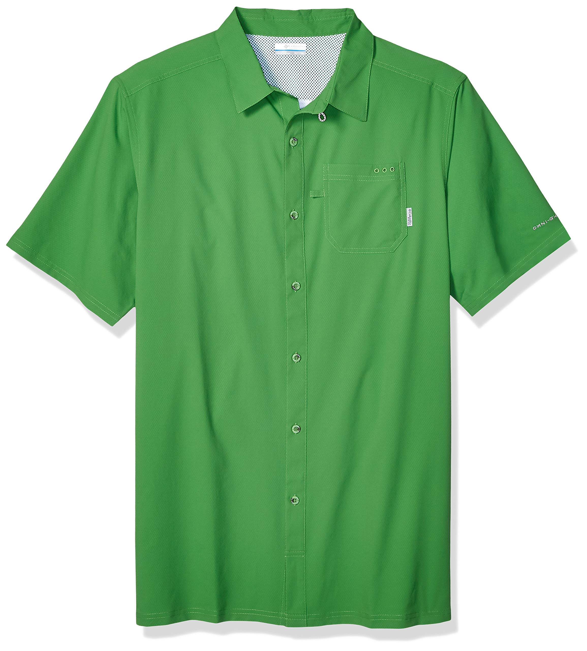 Columbia Standard Men's Slack Tide Camp Shirt, Moisture Wicking, Clean Green, X-Large by Columbia