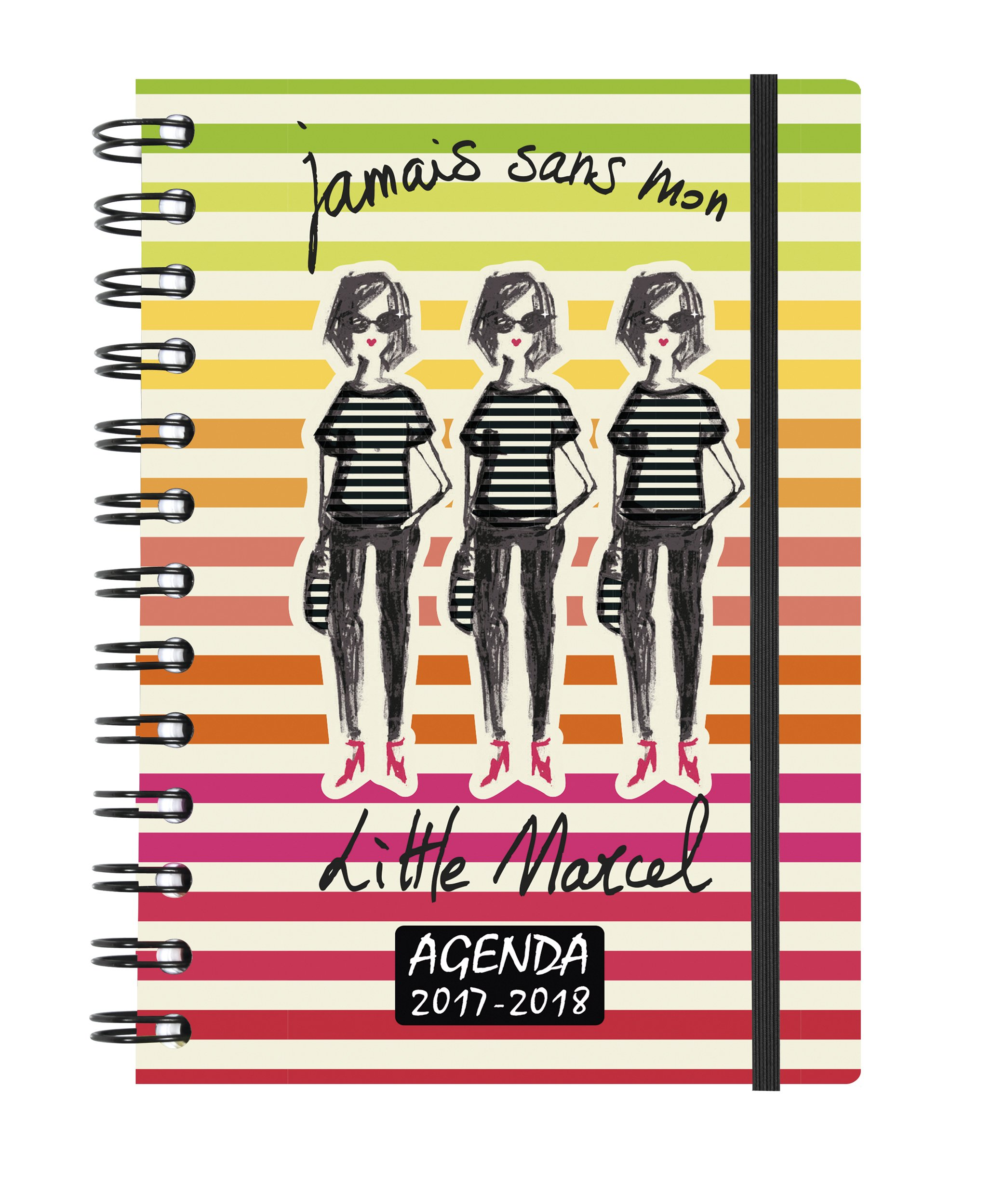 Exacompta Little Marcel Daily School Diary 2017 Forum August to July 3 Women Visual 2018 12 x 17 cm