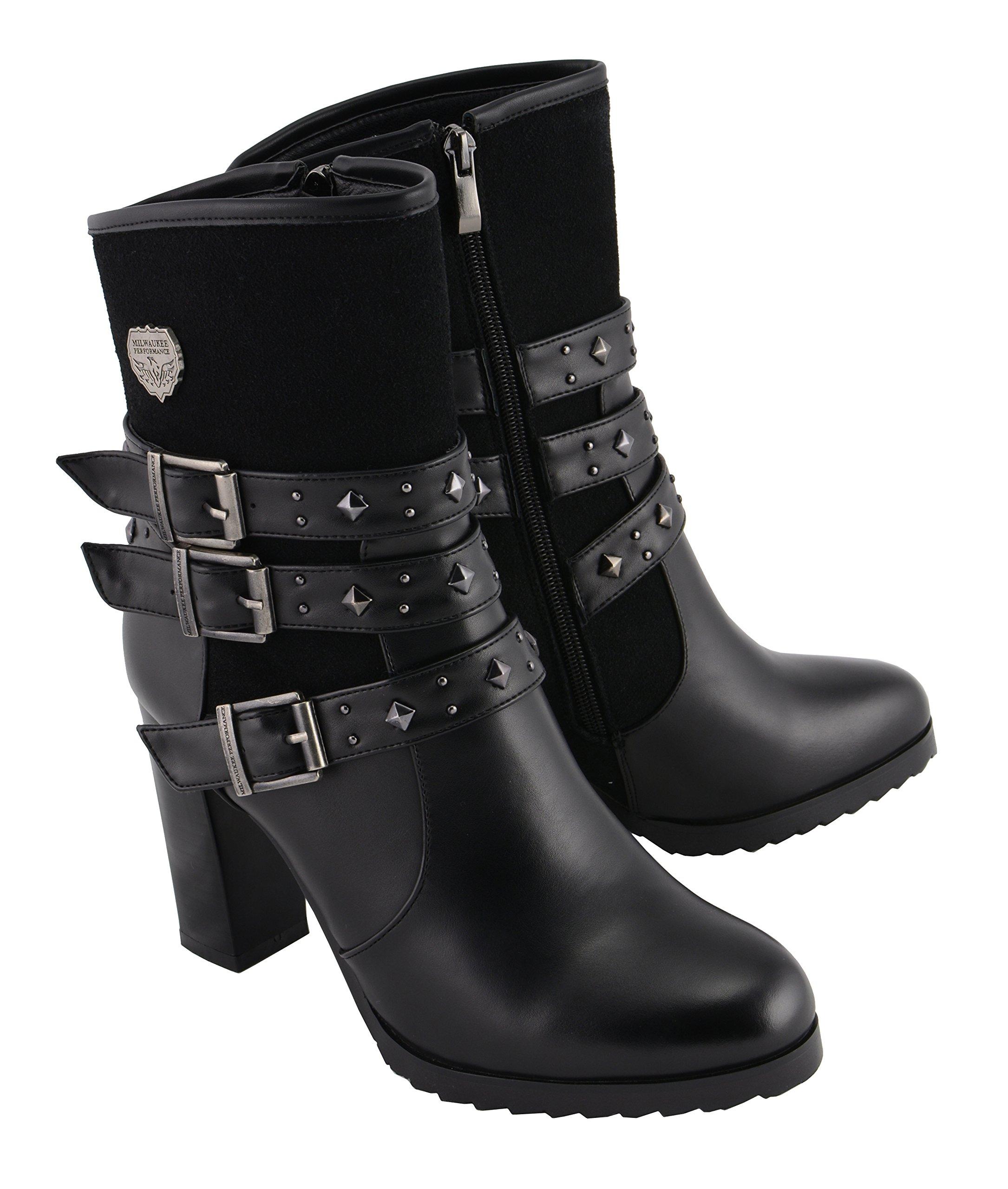 Milwaukee Performance Women's Riding Boot with Block Heel (Black, 8)