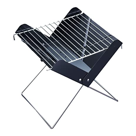 FlyingColors Barbecue BBQ Grill. Stainless Steel Portable Folding Charcoal  Grill For Cookouts, Tailgate Parties