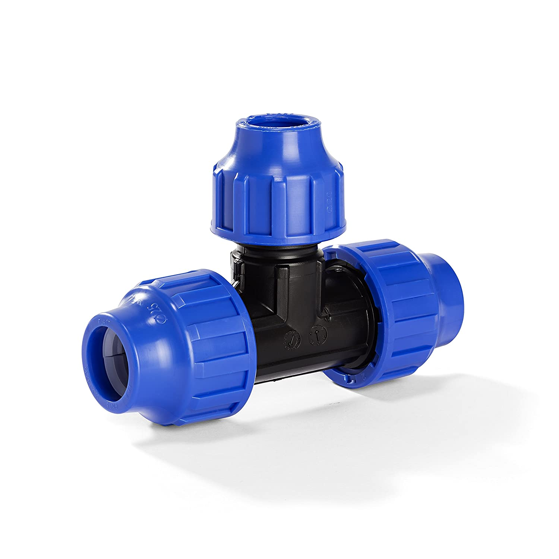 Klemmverbinder H2O-Flex PP-Fitting 25-20 25 mm 25er T-St/ück Reduziert f/ür PE-Rohr DVGW