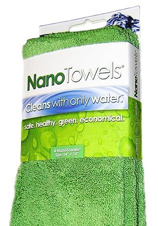 Life Miracle Toallas de tela Eco que limpia prácticamente cualquier superficie con solo agua 14 x 14 pulgadas Verde: Amazon.es: Hogar
