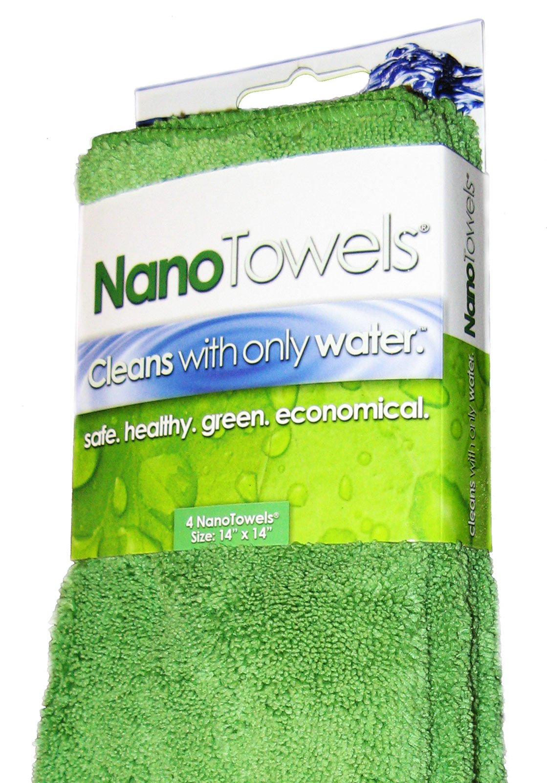 Life Miracle Nano Towels – Amazing Eco Fabric That Cleans Virtually Any Surface with Only Water. No More Paper Towels Or Toxic Chemicals.