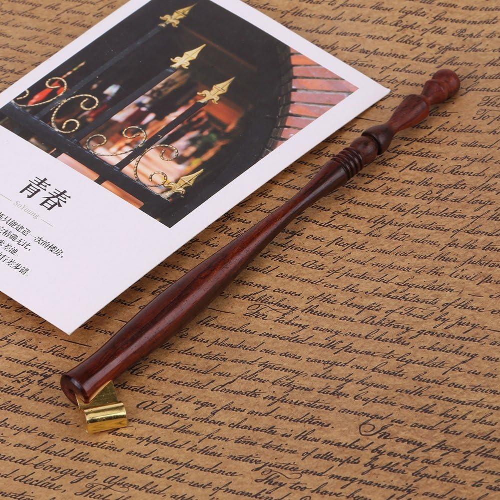 Calligraphie anglaise Porte-plume en bois avec plastron et bride amovible en m/étal Porte-plume
