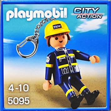 Playmobil - 5095 - Llavero Ingeniero THW: Amazon.es ...