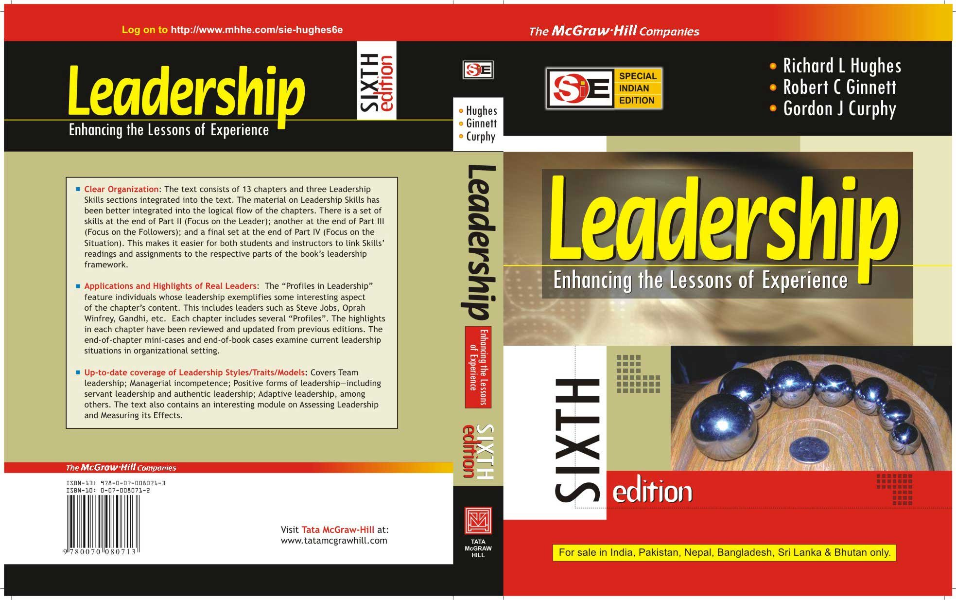 Leadership: Enhancing the Lessons of Experience ebook