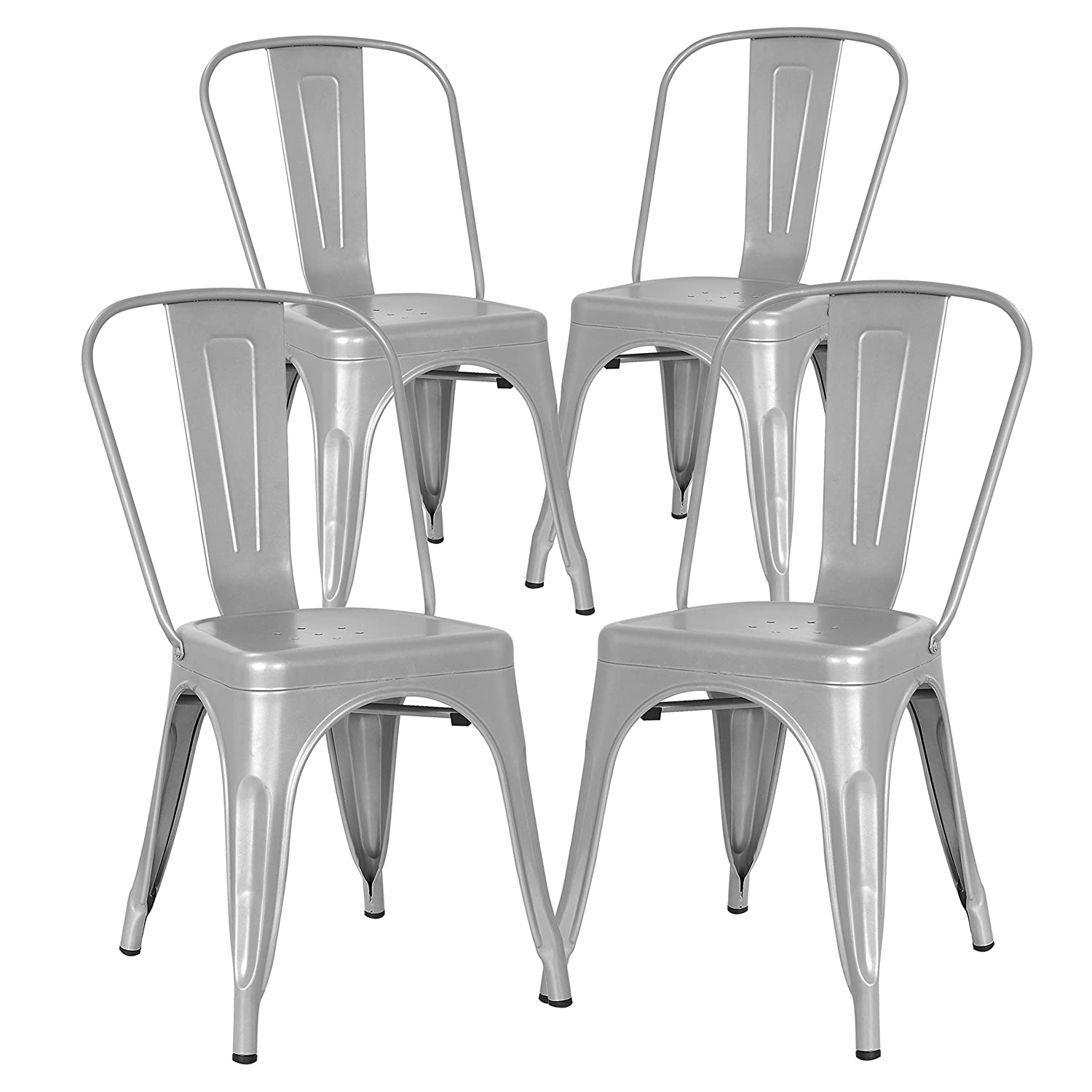 Poly and Bark Trattoria Side Chair in Grey (Set of 4)