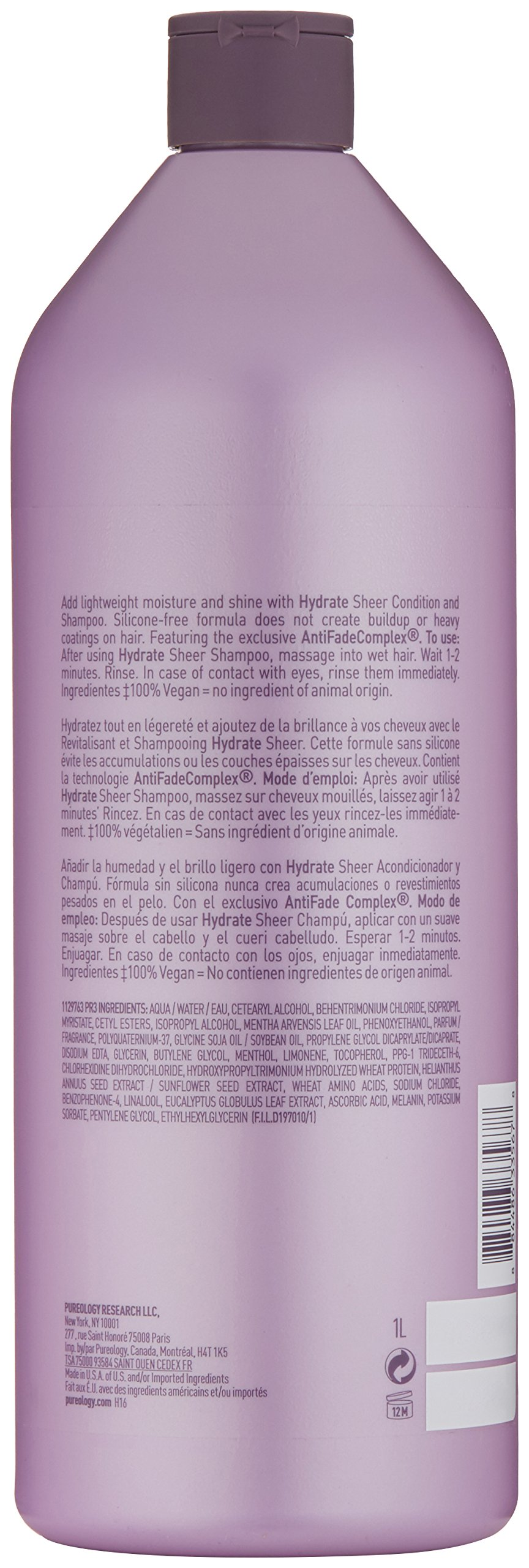 Pureology Hydrate Sheer Conditioner, 33.8 Fl Oz by Pureology (Image #2)