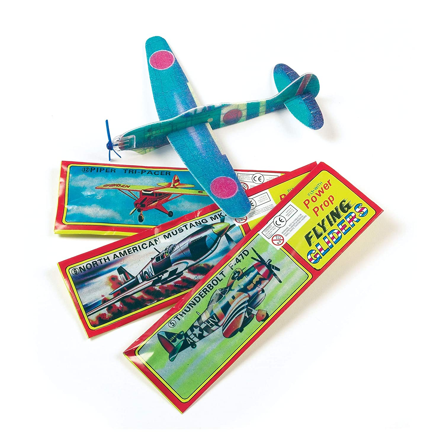 Baker Ross Power Prop Flying Gliders (Pack of 6) Easy Assembly Airplane Toy  Glider Planes for Kids Toys, Birthday Party, School Classroom Rewards or