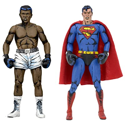 "NECA DC Comics Superman vs Muhammad Ali Special Edition Action Figure (2 Pack), 7"", multi-colored: Toys & Games"