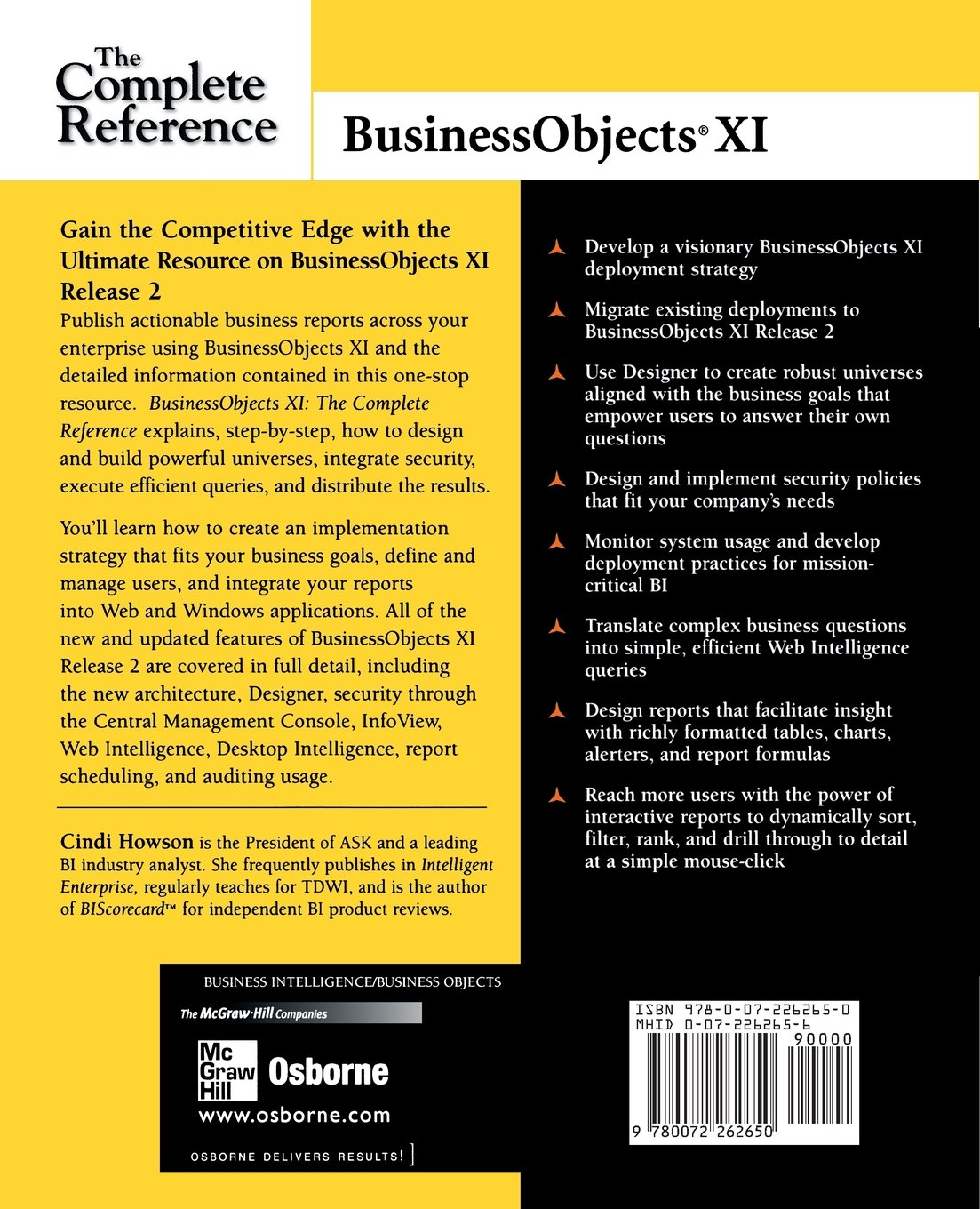 buy businessobjects xi release 2 the complete reference osborne rh amazon in