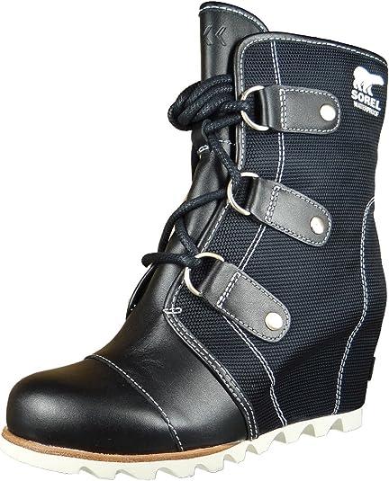 Joan of Arctic Wedge Boots Black