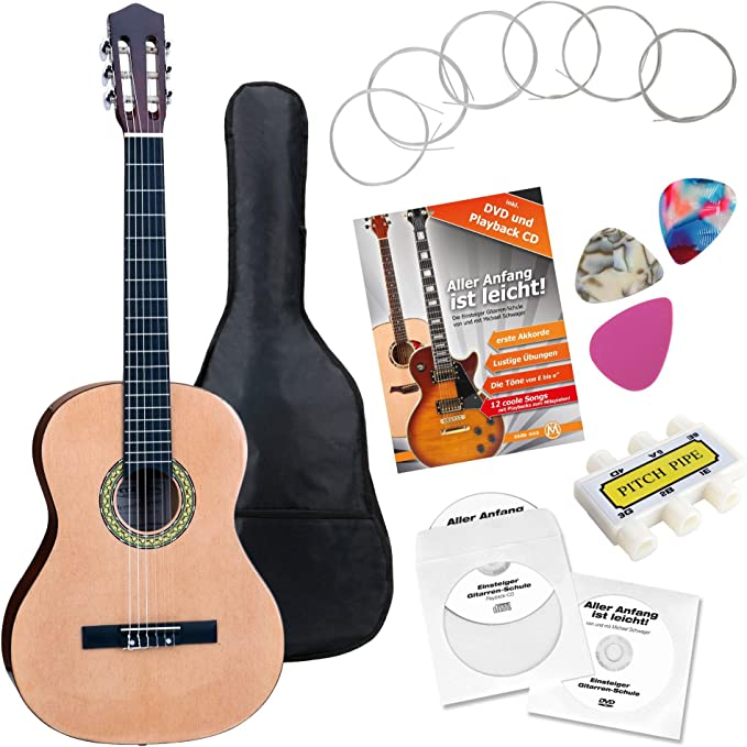 Classic Cantabile AS-861 guitarra de concierto 7/8 set de principiantes: Amazon.es: Instrumentos musicales