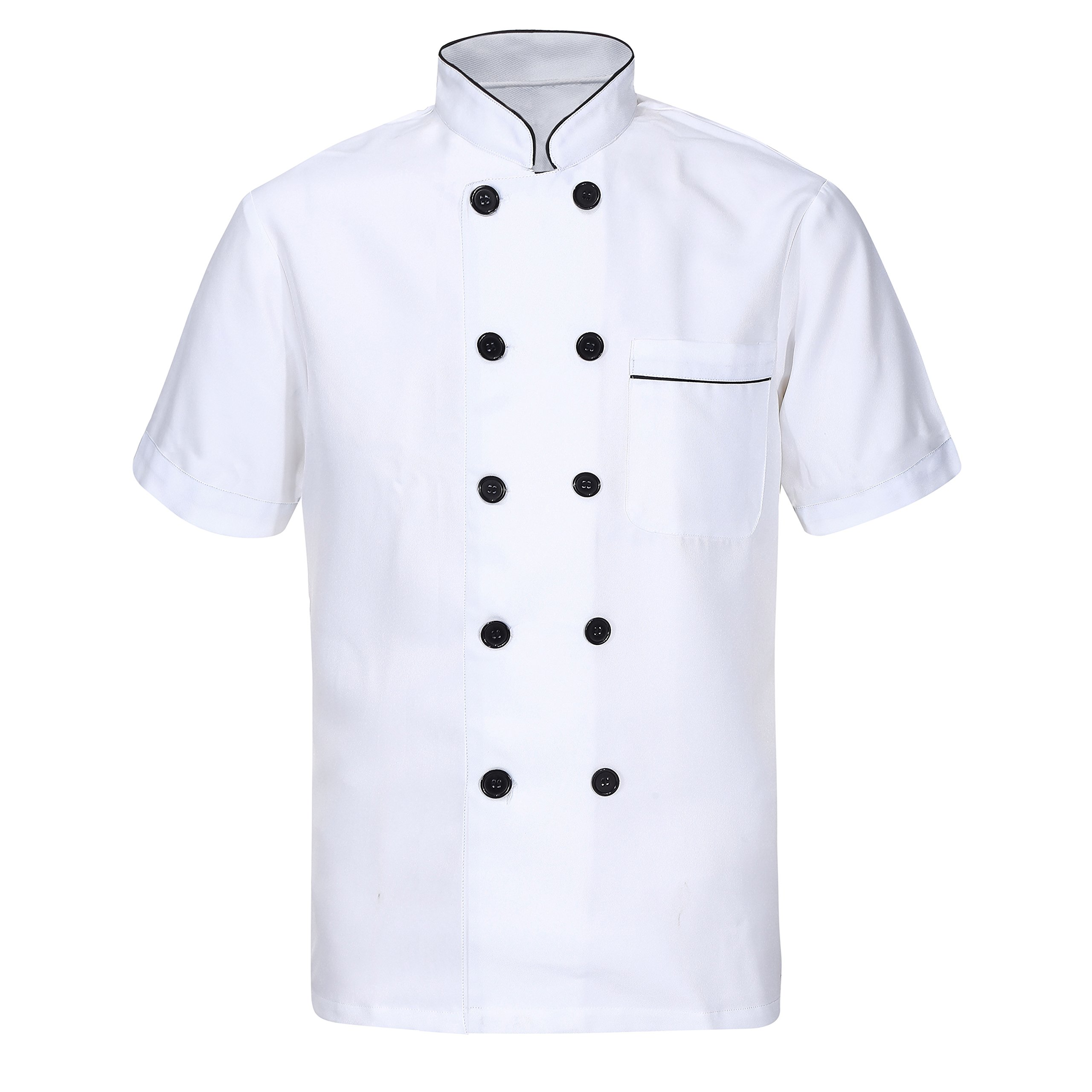 Nanxson Hotel/Kitchen Uniform Long Short Sleeved Working Chef Vest CFM0001 (L, Short Sleeve) by Nanxson