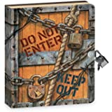 """Peaceable Kingdom Keep Out 6.25"""" Lock and Key, Lined Page Diary for Kids"""