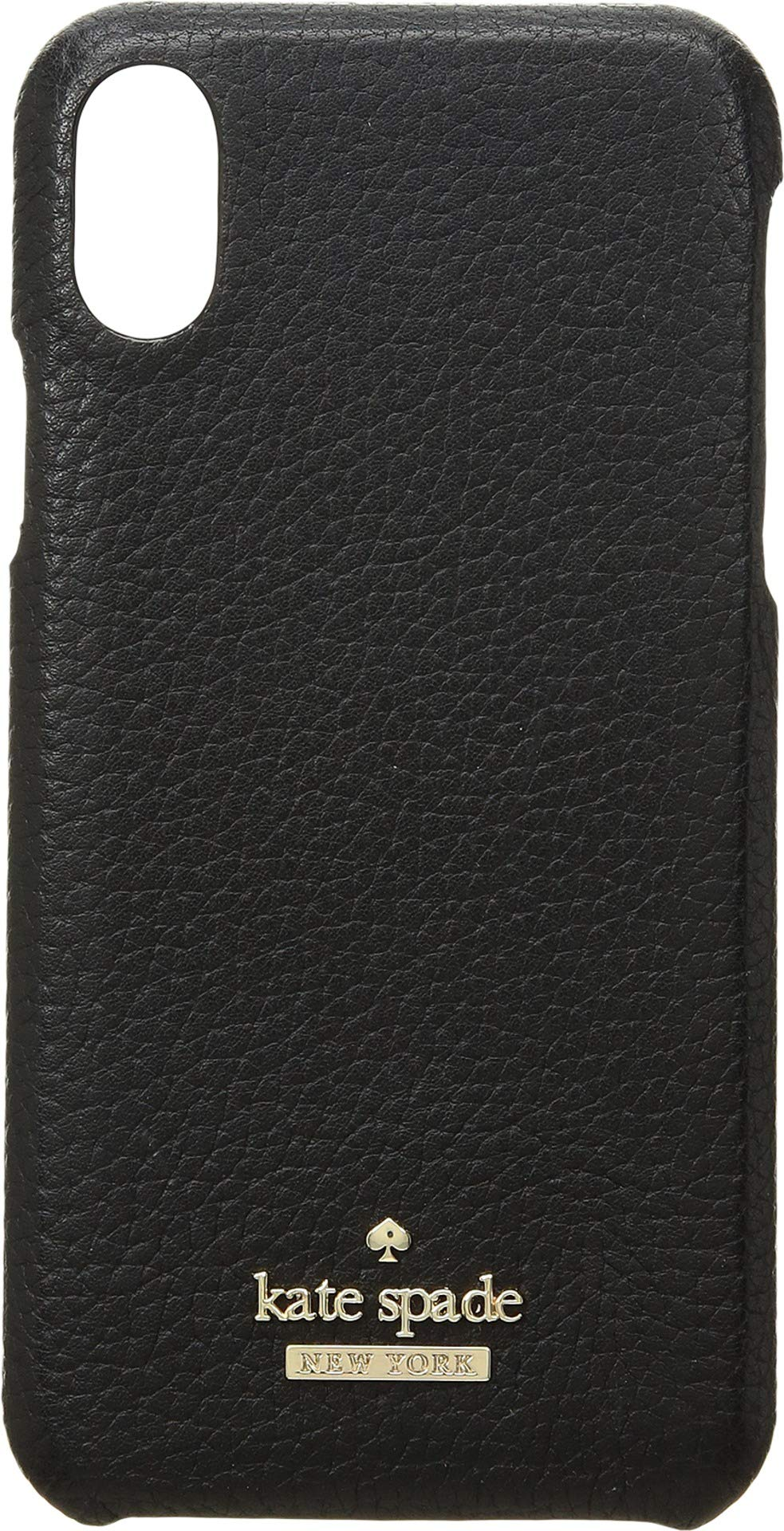 Kate Spade New York Women's Pebbled Snap Case for The iPhone X Black One Size