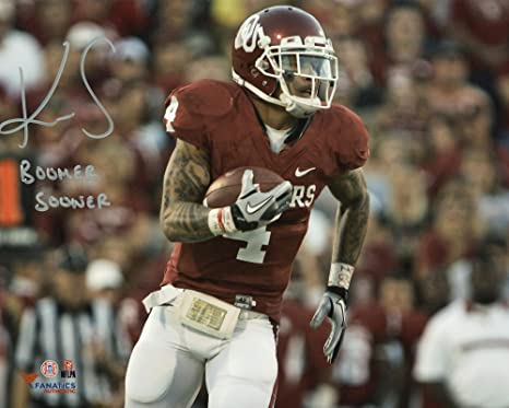 free shipping d7003 2f2cd Kenny Stills Oklahoma Sooners Autographed 8