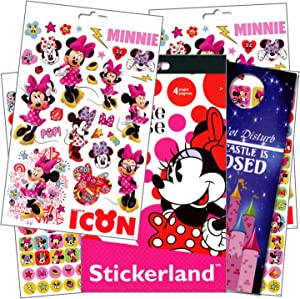 Disney Minnie Mouse Stickers with Specialty Princess Door Hanger - 295 Minnie Mouse Reward Stickers