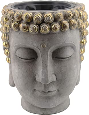 gold-buddha-head-planter
