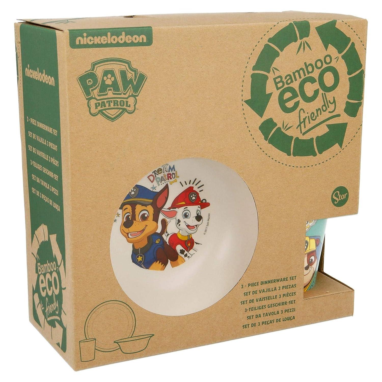 Nickelodeon Paw Patrol The Canine Boy Dream Patrol 3Pcs Kids Bamboo Dining Set