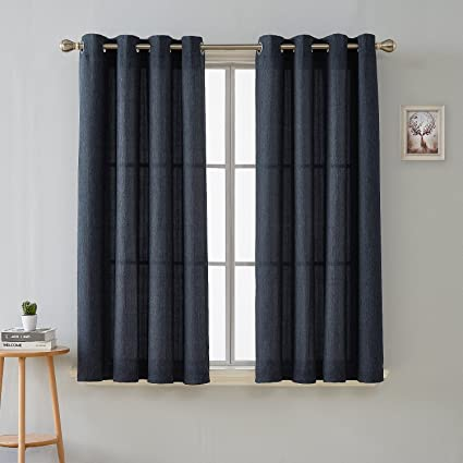 Image Unavailable Not Available For Color Deconovo Fashion Navy Blue Curtains Dining Room