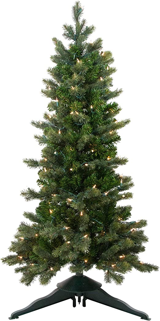 Amazon.com: Northlight 4\' Pre-Lit Savannah Spruce Slim ...