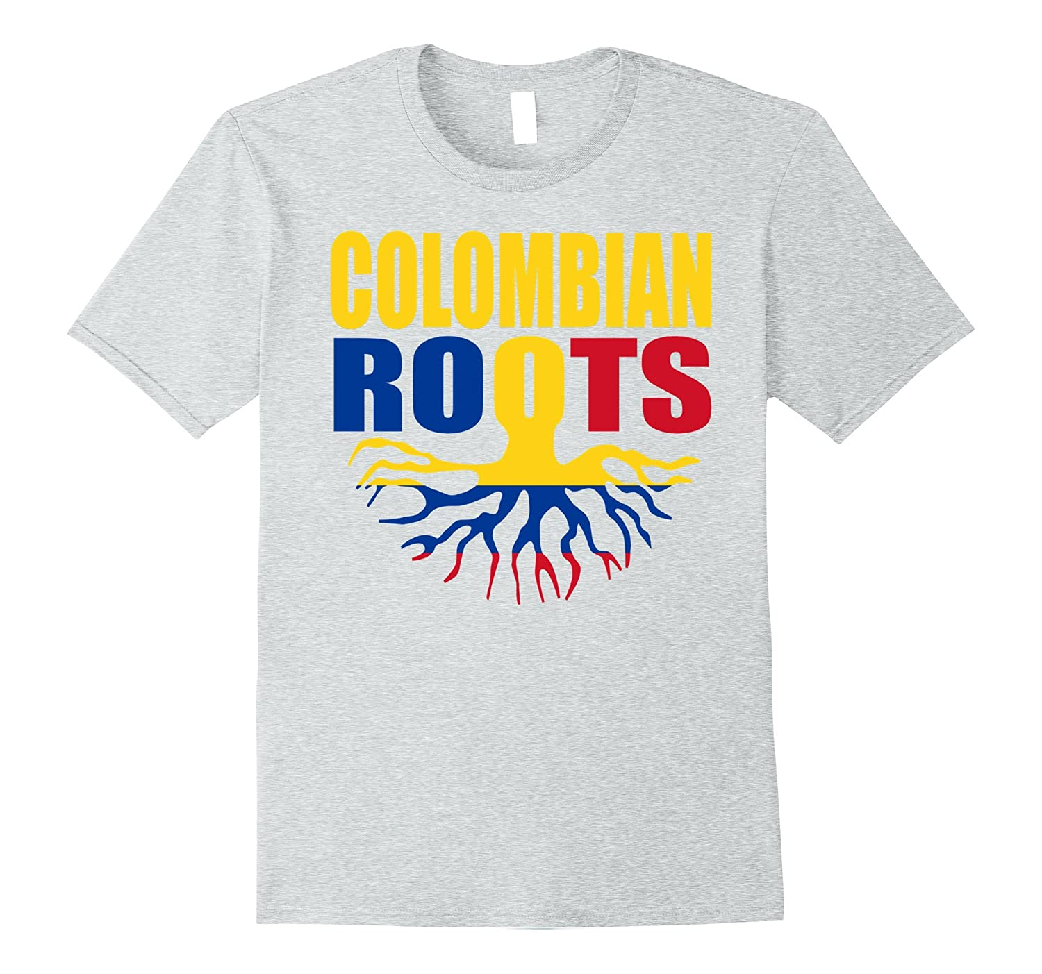 Colombian Roots Colombia Gift Pride Flag T-Shirt-Vaci