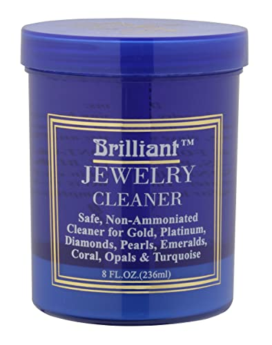 Amazon Brilliant 8 Oz Jewelry Cleaner with Cleaning Basket