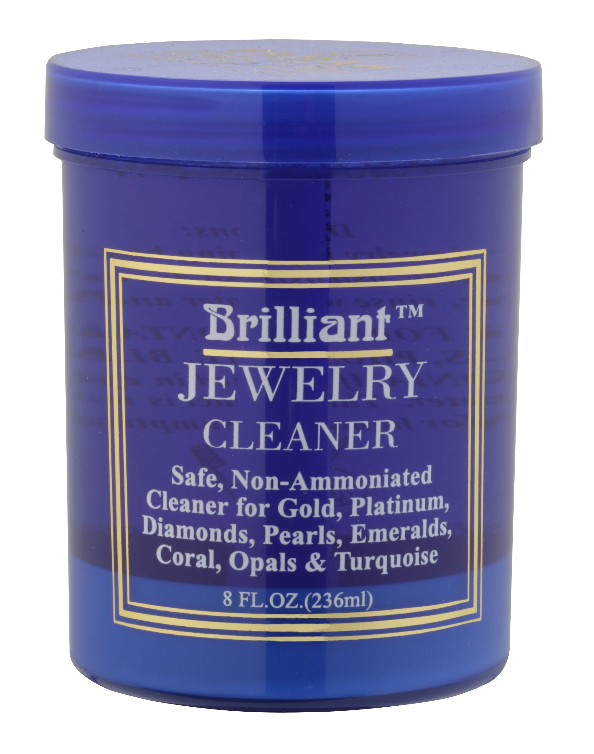 Brilliant® 8 Oz Jewelry Cleaner with Cleaning Basket and Brush