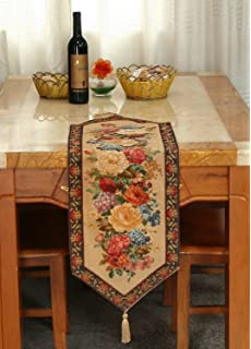Tache 13 X 48 Floral Country Rustic Morning Awakening Woven Tapestry Table  Runner