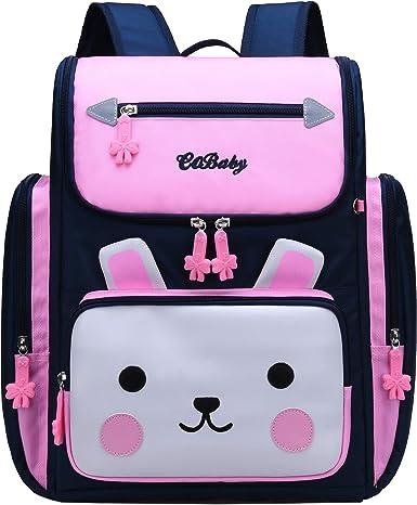 Backpack for Girls Waterproof Bagpack Pink School Bag Cute Bookbag for Kids 6-10