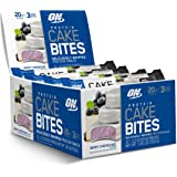 Optimum Nutrition Protein Cake Bites, Whipped Low Sugar Protein Bar, Flavor: Blueberry Cheesecake, 12 Count