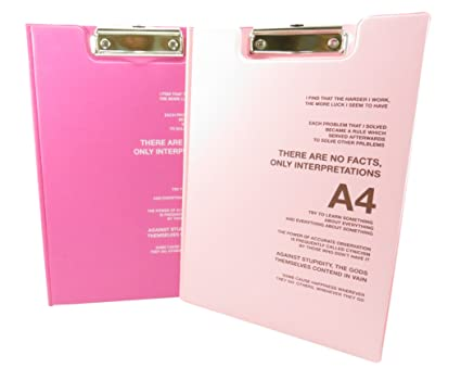 amazon com clipboard with cover letter size 12 5 x 9 pink pack