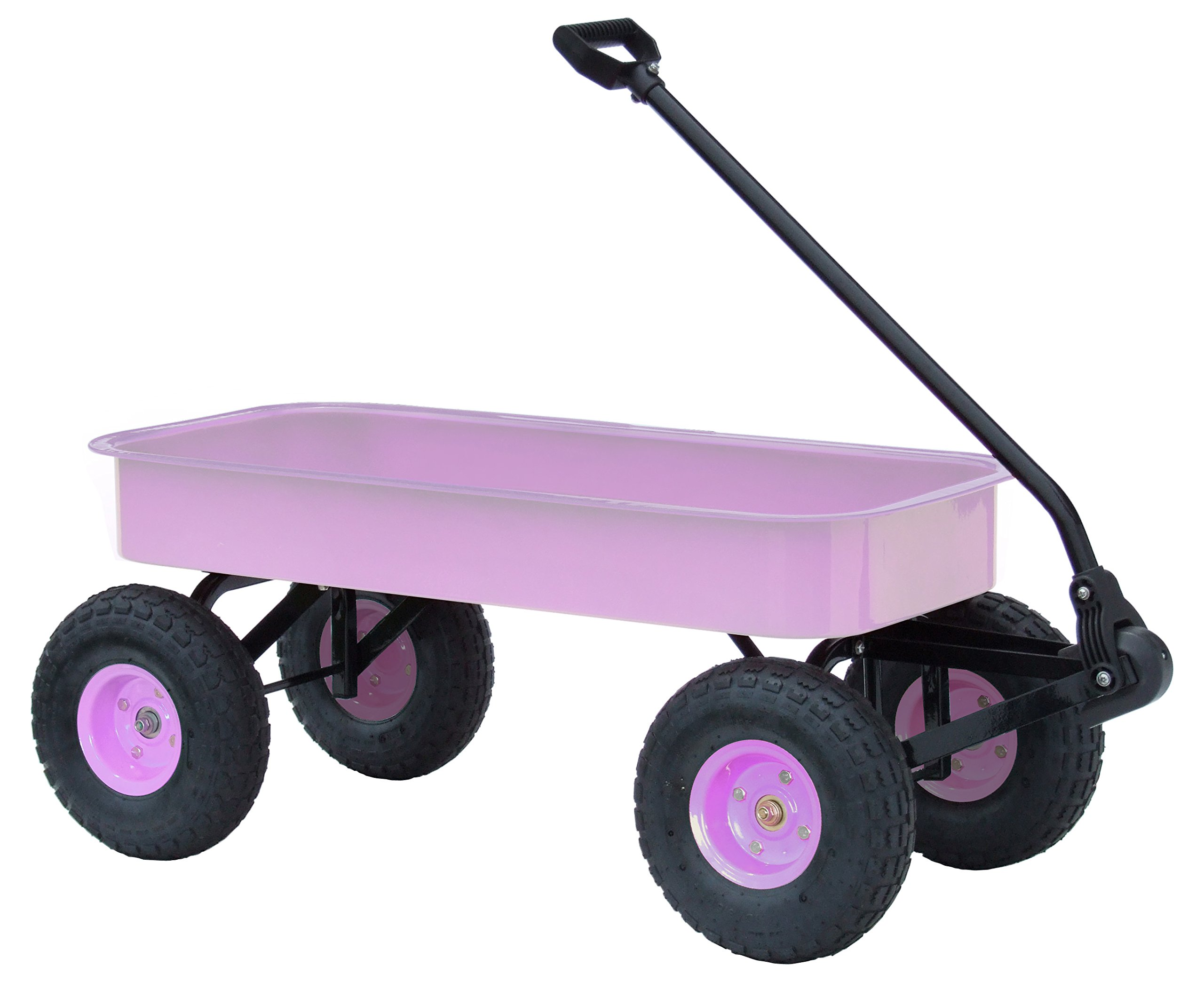 Morgan Cycle Classic Steel Wagon with Rubber Air Tires, Lavendar