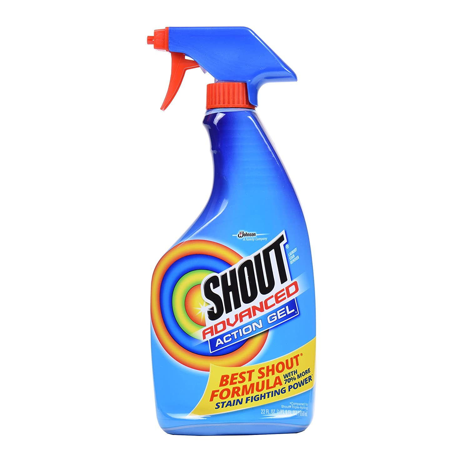 Amazon.com: SC Johnson Shout Advanced 22 Ounces Stain Remover Gel Spray (2 Pack) Brand New and Fast Shipping: Home & Kitchen