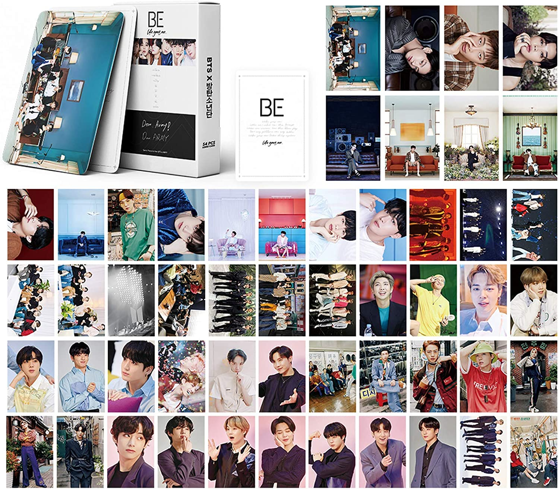 Kpop BTS LOMO Cards 54Pcs BTS Photo Cards BTS BE New Album Card BANTAN Boys BE Card BTS Postcards Fans Gift