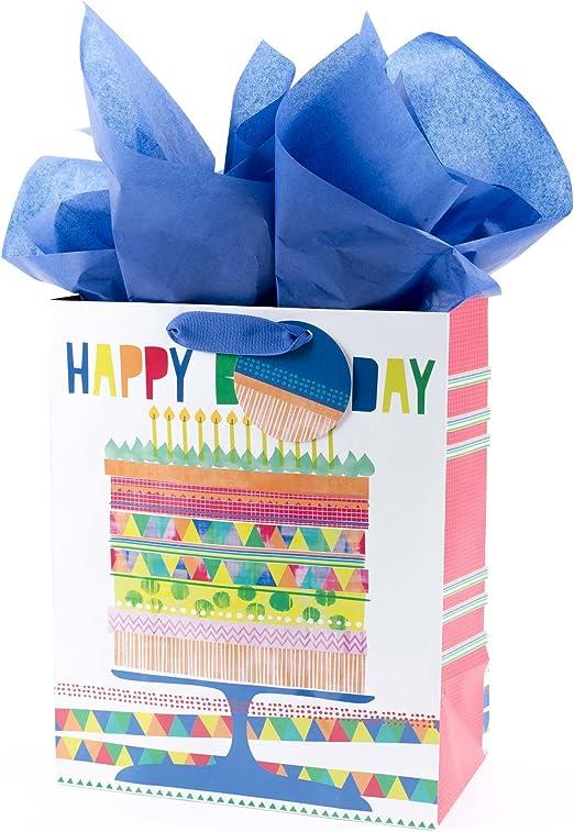 Amazon.com: Hallmark – Tarjeta de cumpleaños bolsa de regalo ...