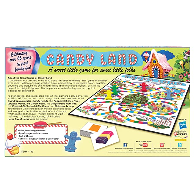 Amazon Candy Land 65th Anniversary Game Toys Games