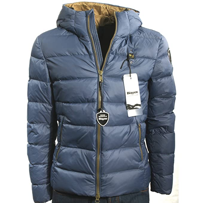 Blauer abajo chaqueta HOMBRES de pluma de GANSO de DOS tonos de Arte MATE 17WBLUC03216-004765 924RT - S: Amazon.es: Ropa y accesorios