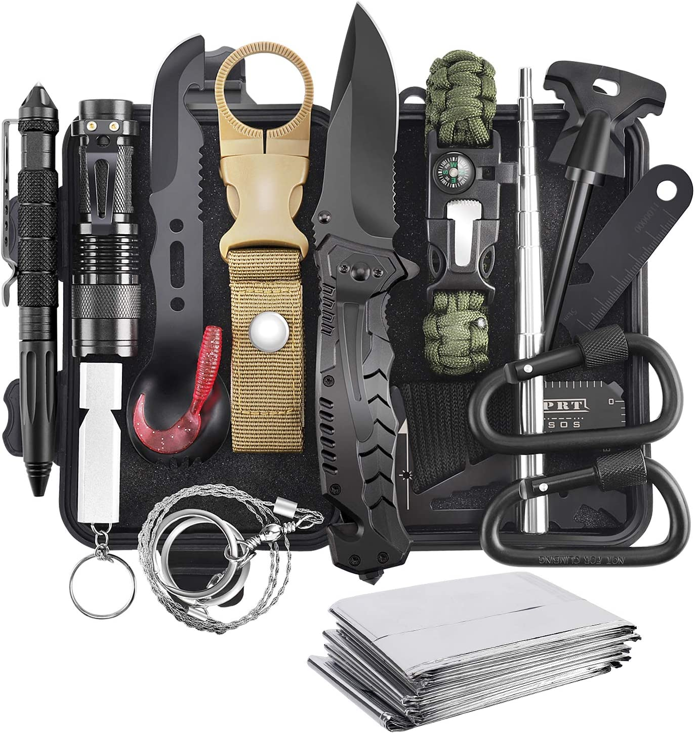 Amazon.com: Survival Kit, 16 in 1 Professional Survival Gear Tool Emergency  Tactical First Aid Equipment Supplies Kits Gifts Idear for Men Him Women  Families Hiking Camping Fishing Adventures: Sports & Outdoors